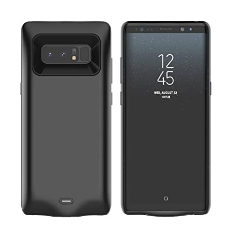 Moonmini Samsung Galaxy Note 8 Battery Case, 5500mAh External Rechargeable Portable Extended Battery Charger Pack Power Bank Backup Charging Cover ...