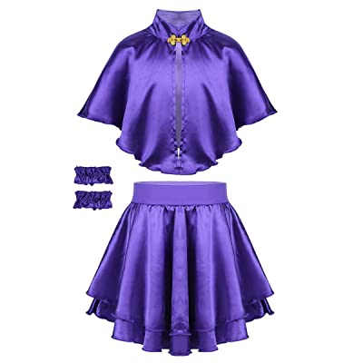 Alvivi Kids Girls' Halloween Princess Costume Cap Top with Skirt Cosplay Fancy Dress up Outfit: Clothing