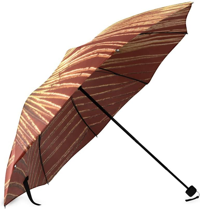 Custom Beatiful Peacock Feathers Compact Travel Windproof Rainproof Foldable Umbrella