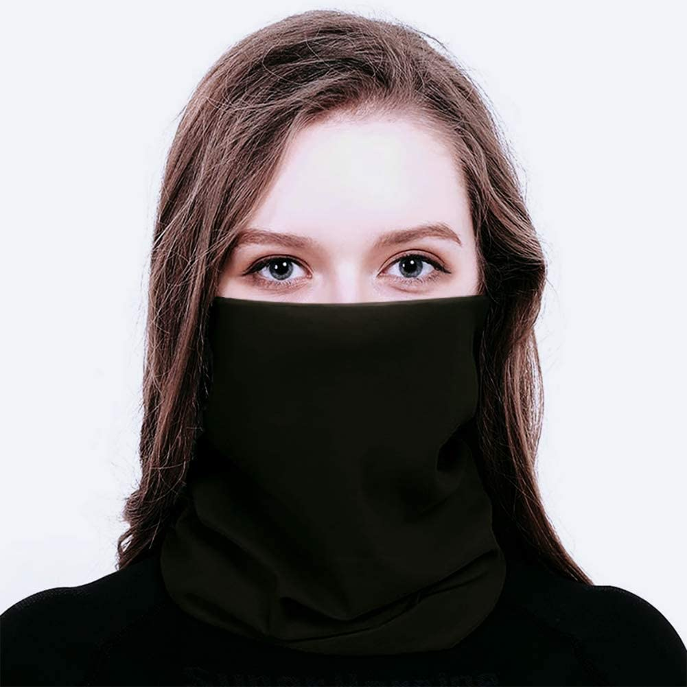 My Berg Pa/ñuelo Multifunci/ón Bandana Bufanda Para Motocicleta Bicicleta Pa/ñuelo Para El Cuello M/áscara Facial Protector Bucal Para Mujer Gris Color Negro