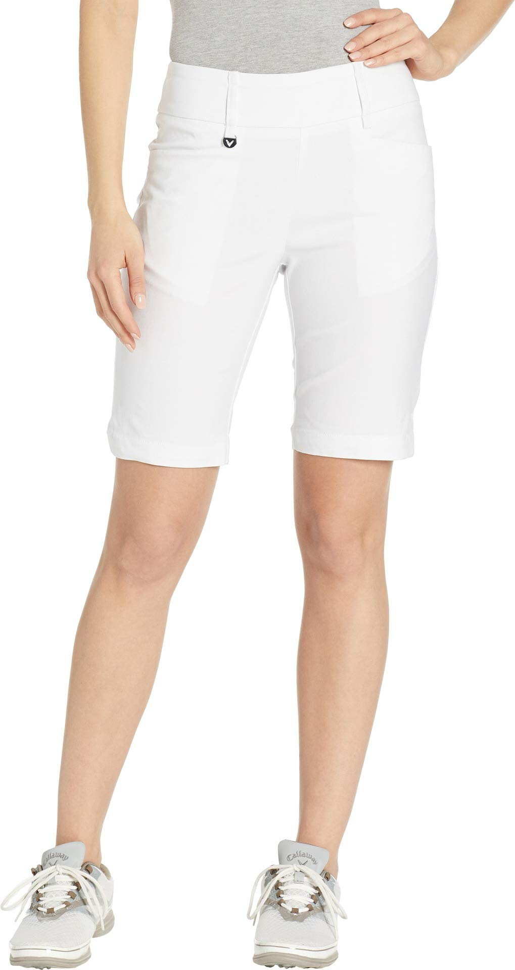 Callaway Women's Performance Flat Front 9.5'' Inseam Short, Solid Brilliant White, XX-Large by Callaway