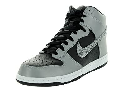Nike Men's Dunk PRM Hi SP White/Black/Reflect Silver Basketball Shoe 8 Men