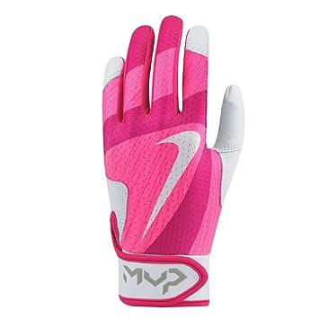 Nike MVP Edge Kid's Youth Baseball Softball Batting Gloves (616 Vivid  Pink/Hyper Pink