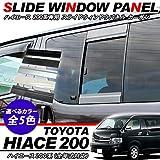 ハイエース 200系 スライドウィンドウパネル/ガーニッシュ 標準/ワイドボディ 2枚セット/1E7