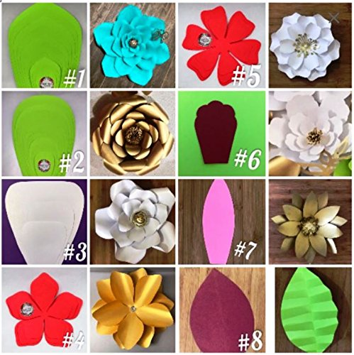 Flower Choose Color (Paper Flower Templates, REUSABLE Templates, Giant Paper Flower Template. Choose a style (#2 (Small to Large Flower 8