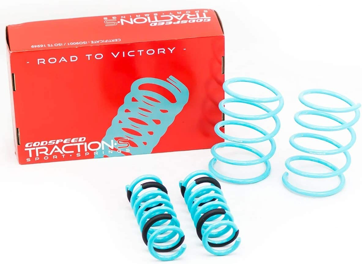 Set of 4 Godspeed LS-TS-BZ-0001-C Traction-S Sports Lowering Springs 2003-06 2WD ONLY compatible with Mercedes-Benz CLK320//CLK350 Coupe W209 Reduce Body Roll Improved Handling