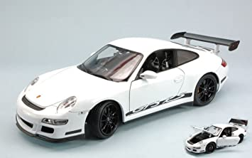 Welly 1/18 Scale - 18015W Porsche 911 997 GT3 RS silver / orange: Amazon.es: Juguetes y juegos