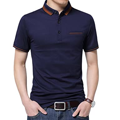 65914b7a2 Womleys Mens Casual Slim Fit Short Sleeve Collared Polo T Shirt (US X-Small