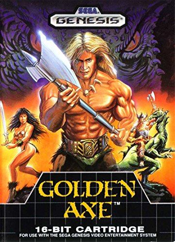 Golden Axe (Sega Genesis / Mega Drive) - Reproduction Video Game Cartridge with Clamshell Case and Manual