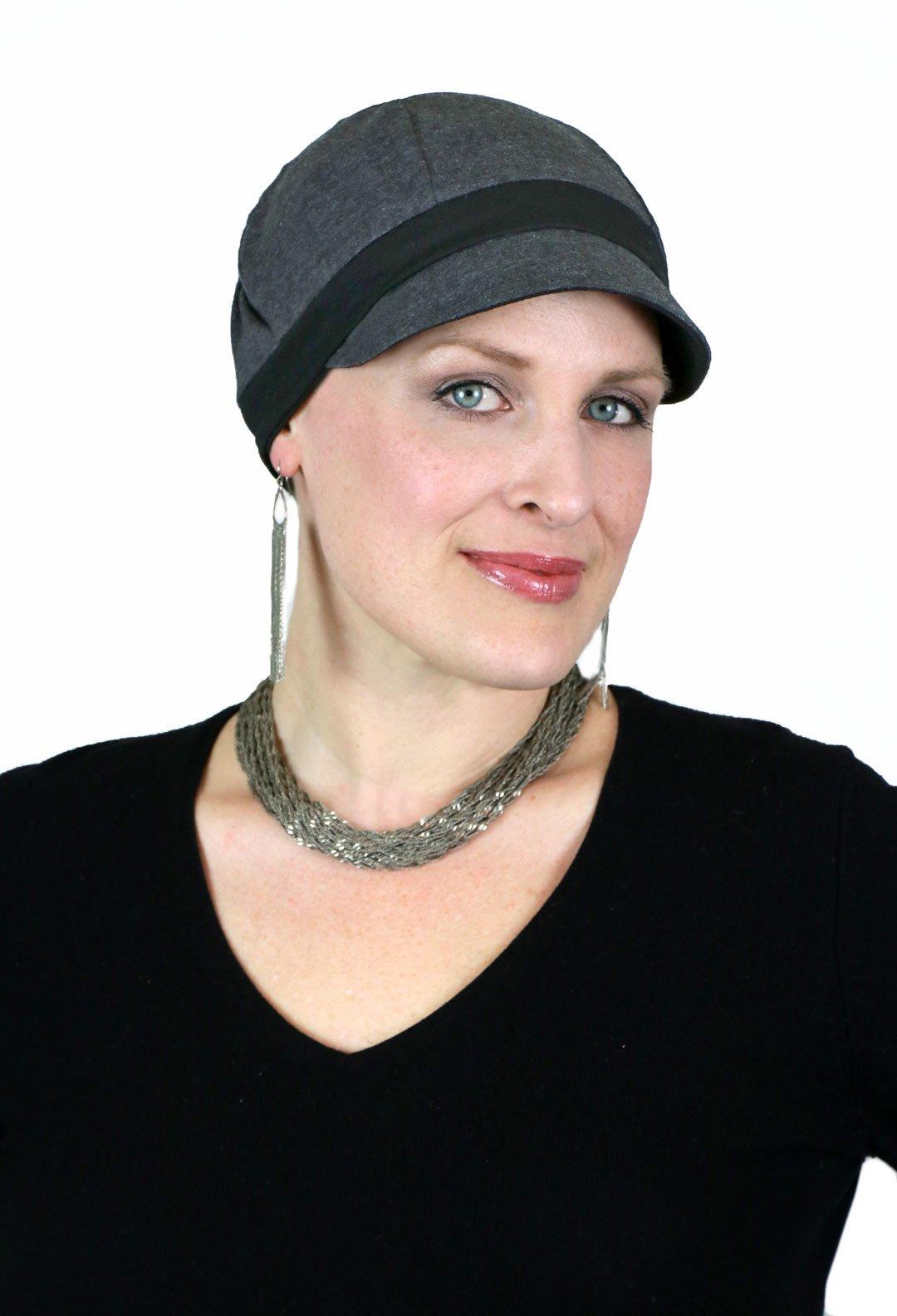 Chemo Hats for Women Cancer Headwear Headcoverings Cute Baseball Caps Whimsy Sport (Dark Grey)