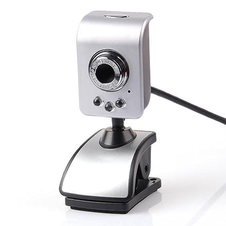 Mini USB 2.0 Cámara Web HD de 3LED clip-on Webcamera Web PC cámara de