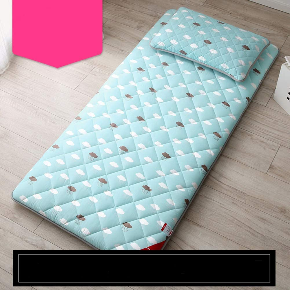 WAYERTY - Colchón Antideslizante para colchón, colchones Acolchados y Transpirables de 3 cm, Materiales sintéticos, Azul Celeste, W150xH200cm(59x79inch)