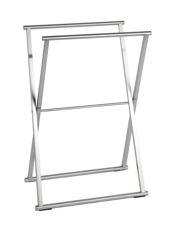 Wenko Toallero de Pie Plata Brillante 35x53.5x80.5 cm Acero Inoxidable