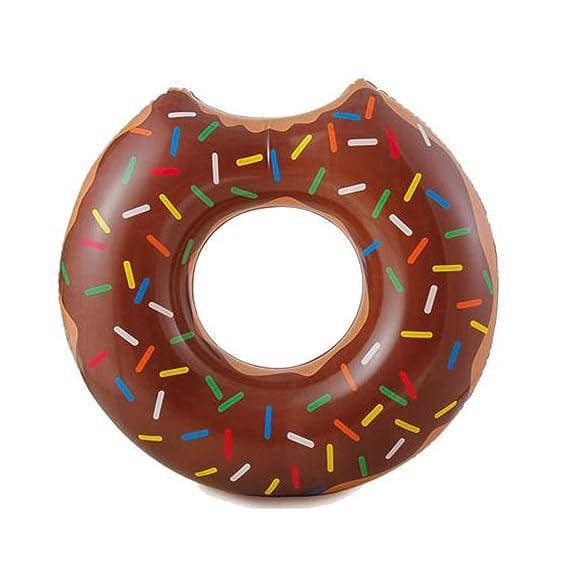 Cisne 2013, SL Flotador Donut Mordido diseño Chocolate Sprinkles Adulto Medidas 89x84x23 cm. Flotador mordisco rosquilla para Playa o Piscina ...