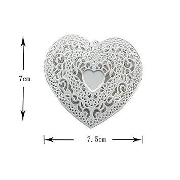 LED Night Valentineu0027s Day Decorated LED White Iron Heart Shaped Lamp String  ...