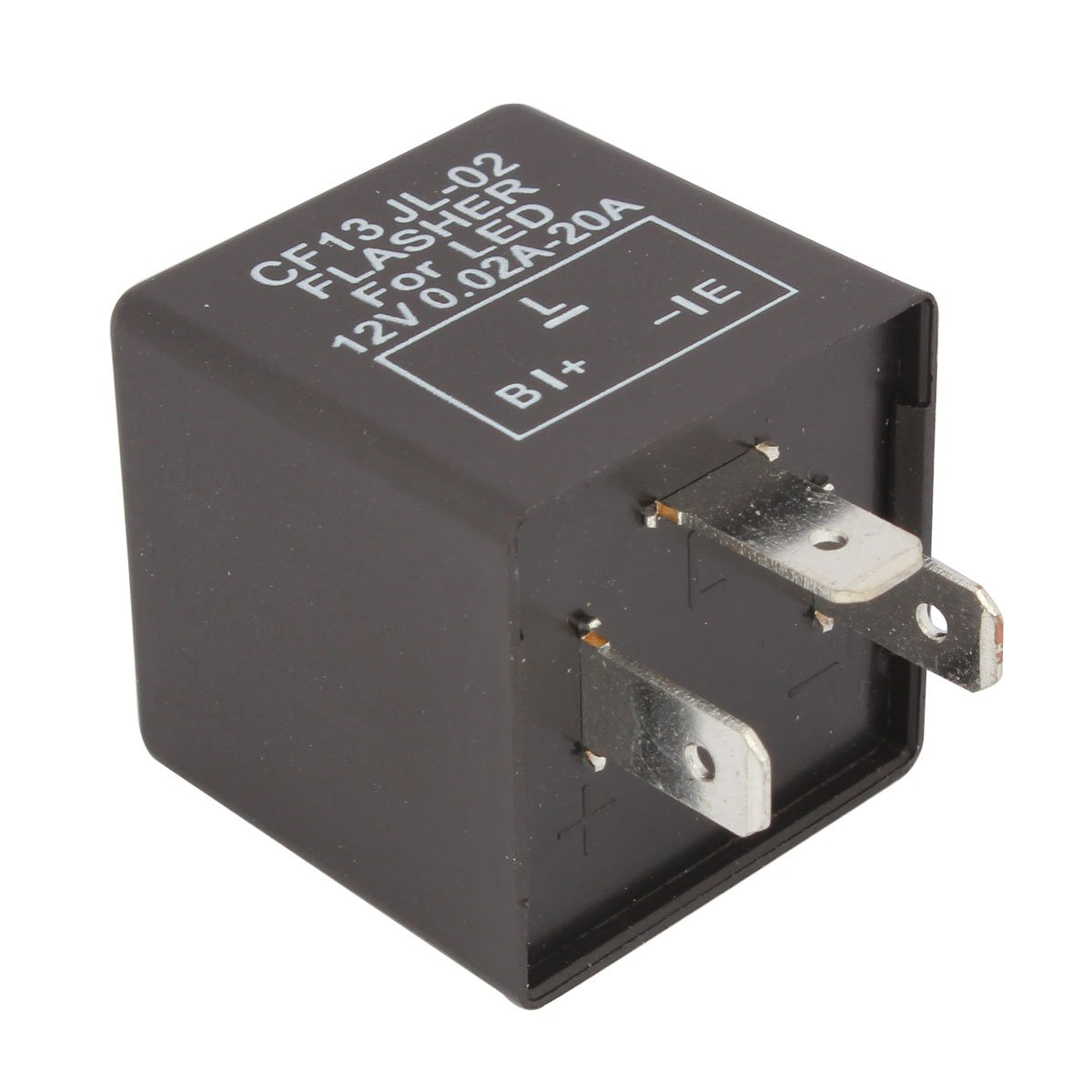 TOMALL 3Pin LED Blinker Elektronische Blinker Blinker Relais CF13 JL-02 EP34 f/ür LED 12V 0.02A-20A