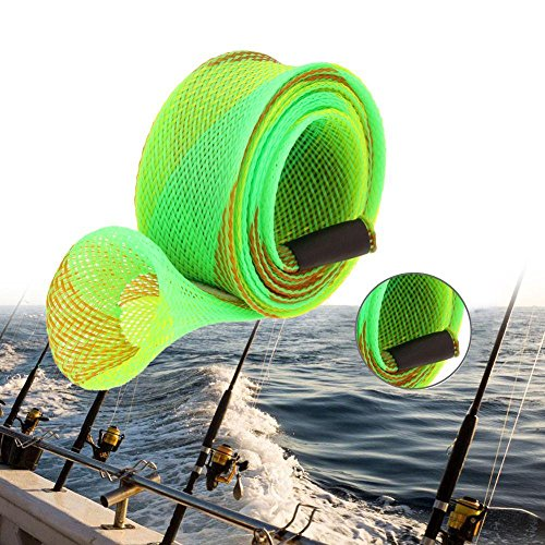 Intrecciato Fodero Di Protector Antiscivolo Vdk Giacca Sleeve Expanable Wrap Maglia Pesca Borsa Pole Canna Da qZwtctUz