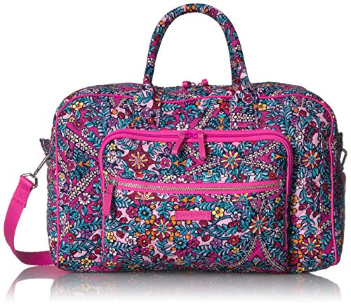 Vera Bradley Iconic Compact Weekender Travel Bag, Signature Cotton, Kaleidoscope (Travel Vera Wallet)