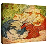 ArtWall Franz Marc 'Cats' Gallery Wrapped Canvas Artwork, 36 by 48-Inch