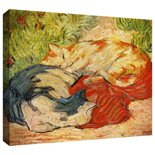 ArtWall Franz Marc 'Cats' Gallery Wrapped Canvas Artwork, 36 by 48-Inch Franz Marc Deer