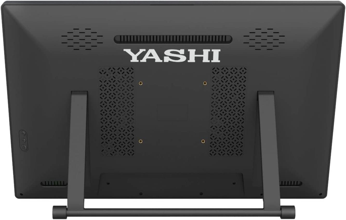 "YASHI Monitor Touch 10 tocchi 21,5"", IPS 1920x1080, 250cd/m2, VGA, DVI, HDMI, Vesa, Speakers integrati, bassi consumi, Low Blue Light"