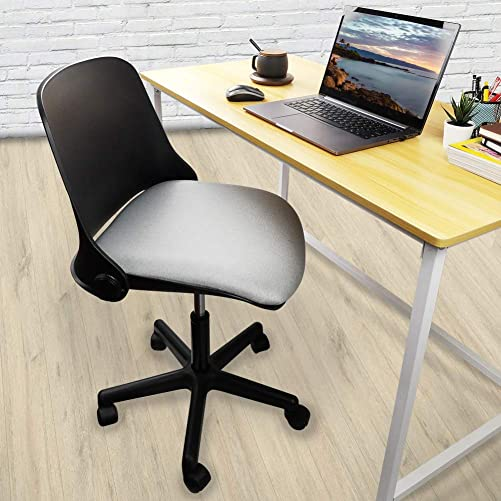 KKTONER Mid Back Office Chair Swivel Rolling Stool Height Adjustable Computer Desk Chair