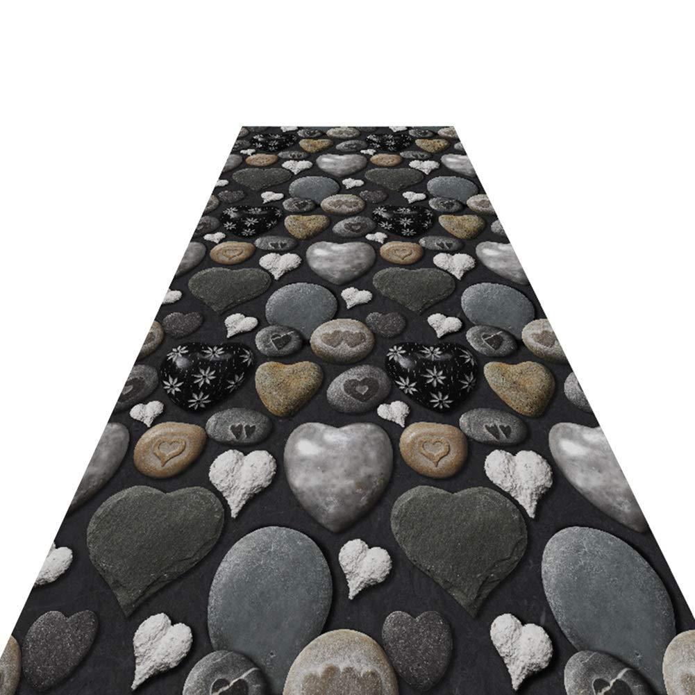 HAIPENG 廊下のカーペット 3D 石 パターン ランナー ラグ にとって 廊下 ローパイル エリアラグ 長いです カーペット コリドー通路 入り口 ラグ 屋内 アウトドア (色 : A, サイズ さいず : 1.6x7m) 1.6x7m A B07NXZ6JQN