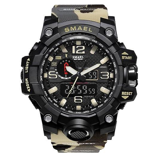Relojes Militares de Marca Relojes de Camuflaje Digital Reloj Grande: Amazon.es: Relojes