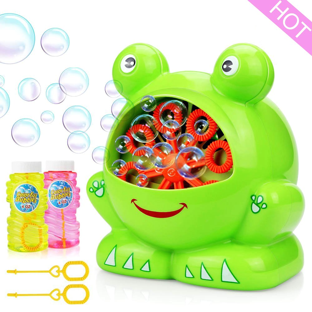 vanow Bubble Machine for Kids, Automatic Bubble Machine Durable Bubble Makers 500 Bubbles per Minute for Christmas, Parties, Wedding, Indoor and Outdoor Games with 2 Bubble Solution (2×120ml)