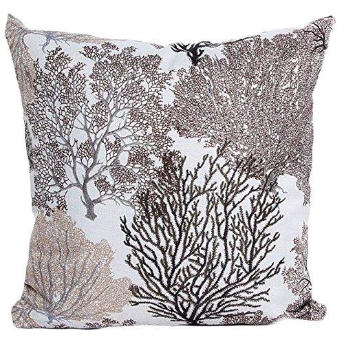 OCASHI Pillow Covers Decorative, Taiki Sofa Bed Home Decor Pillow Case Cushion Cover (45cm X 45cm, Khaki) -