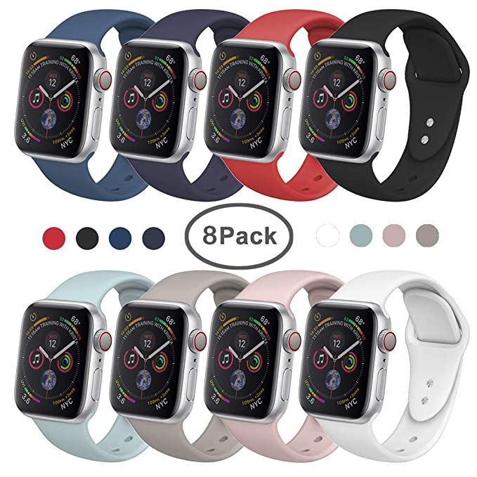 Banda para Apple Watch 38 mm 42 mm, siruibo suave silicona ...