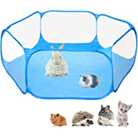 Amakunft Small Animals C&C Cage Tent, Breathable & Transparent Pet Playpen Pop Open Outdoor/Indoor Exercise Fence…