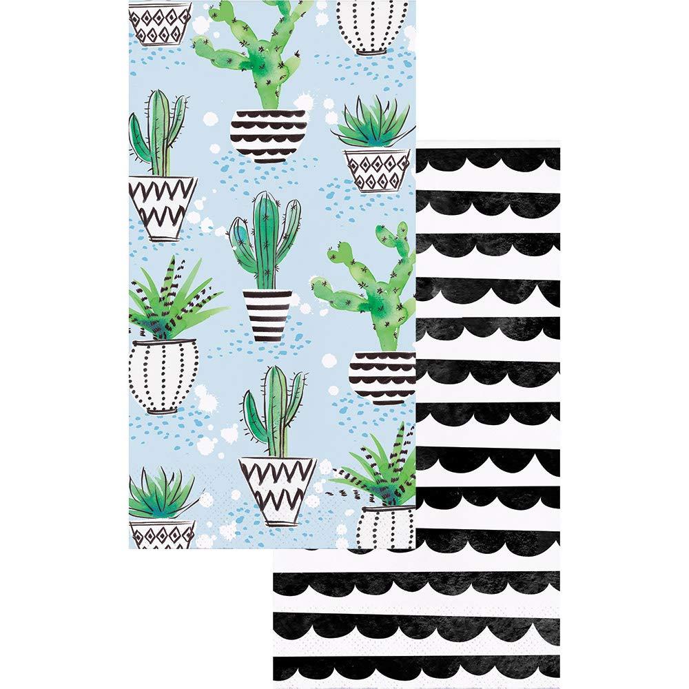 Cactus Decor Paper Hand Towels or Dinner Napkins Rustic Decor Modern Farmhouse Decor Cinco de Mayo Fiesta Cactus /& Stripes 2-Sided Pk 32