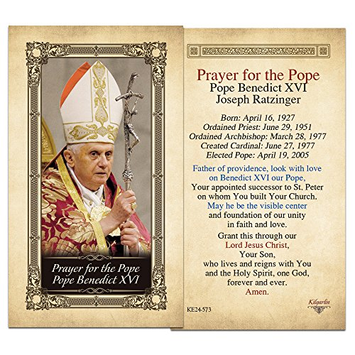 (The Pope Pope Benedict XVII Laminated Holy Card - Pack of 3)