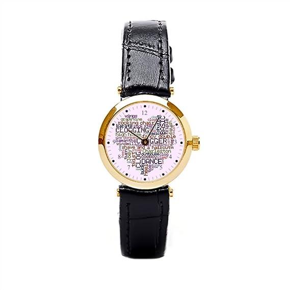 Reloj de pulsera para mujer Cute Dancing barato reloj de pulsera