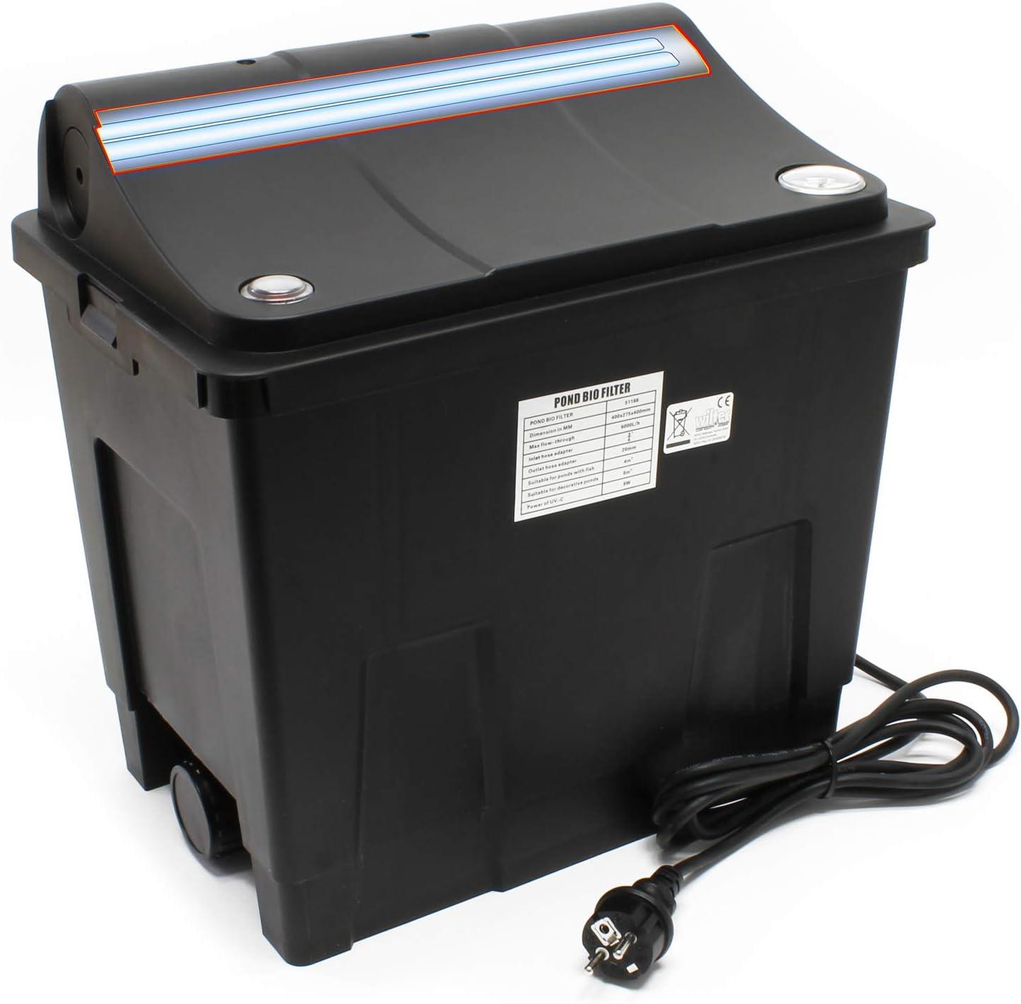 SunSun Filtro de cámara para estanques CBF-200U Equipo con lámpara Ultravioleta 9W