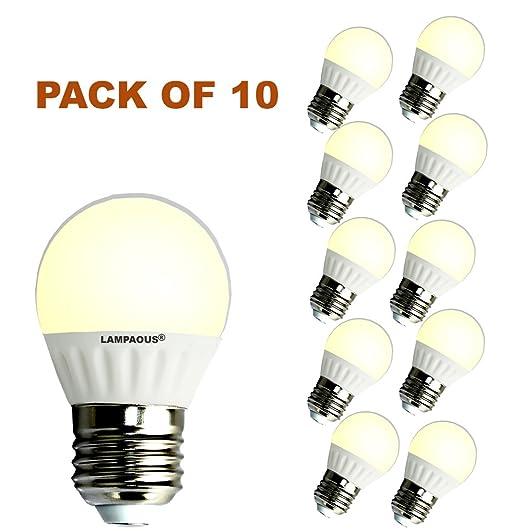 Lampaous® 3 W G45 E27 LED Bombilla 30 W bombillas incandescentes Equivalente, Blanco cálido