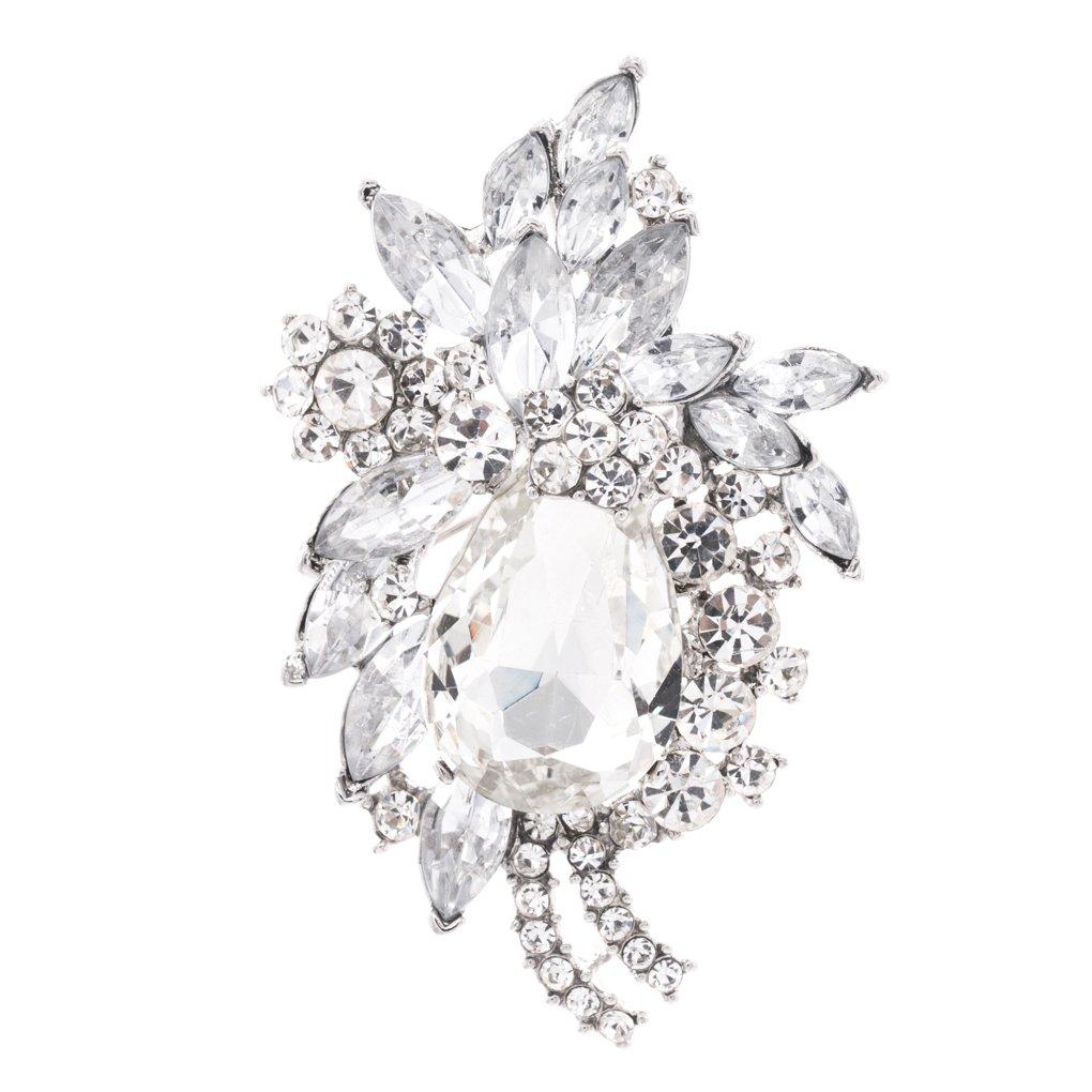 Flower Wedding Bridal Crystal Rhinestone Brooch Pin Shoes Bag Accessories 4997CLE