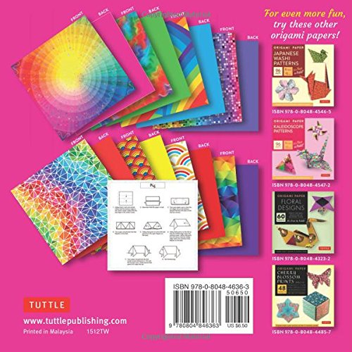origami paper rainbow patterns 6quot size 96 sheets