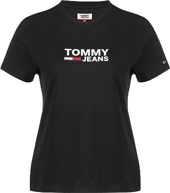 Tommy Hilfiger Corp Logo tee Camiseta para Mujer: Amazon.es: Ropa y accesorios