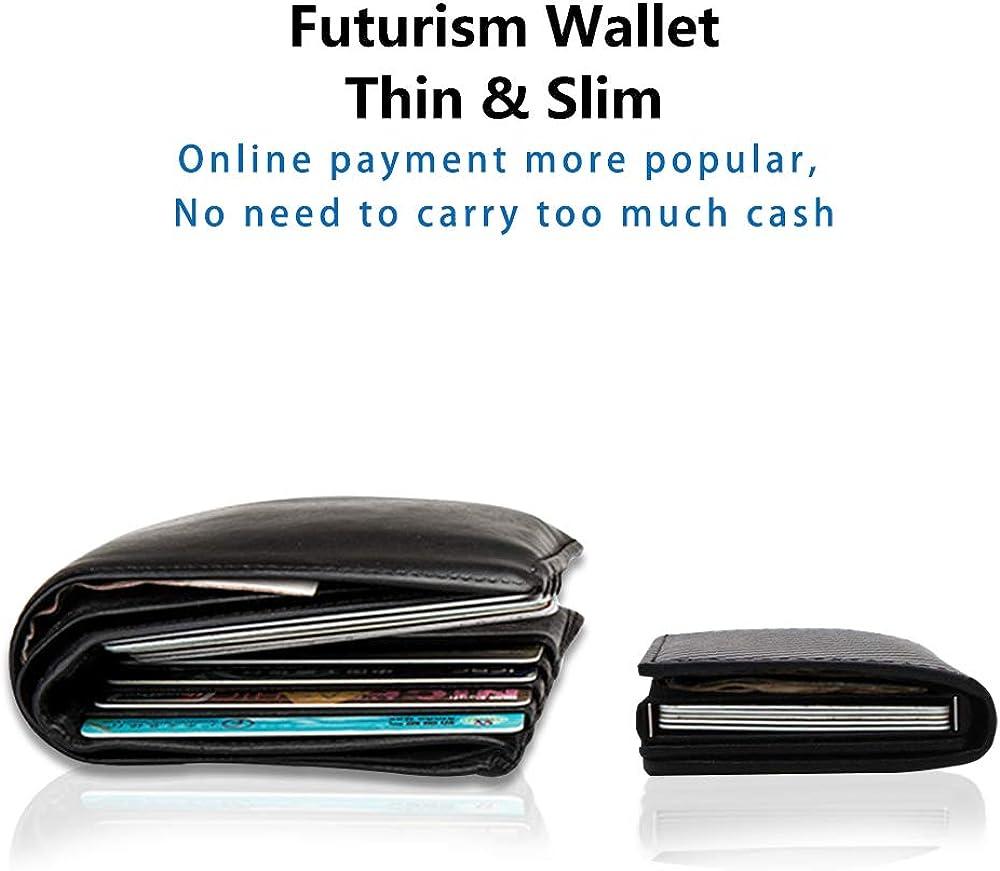 Shinewave RFID Blocking Card Holder Wallet//RFID Wallets for Men 2020 New Version Pop-Up Wallet