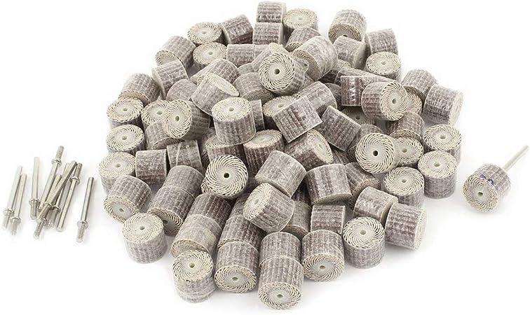 100pcs 80 Grit 3mm Thread Removable Shaft Flap Wheel Polishing Abrasive Discs