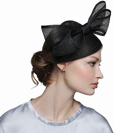 Black Silver Glitter Fascinators Hat for Women Tea Party Wedding Derby  Headwear at Amazon Women's Clothing store