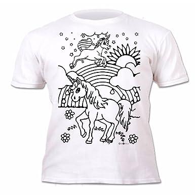 28b08a65 Splat Planet Unicorns T-Shirt Age 7-8 Colouring Kids T-Shirt With 6 Fabric  Pens: Amazon.co.uk: Clothing