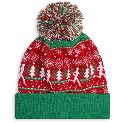 Ugly Christmas Sweater Run Pom Pom Beanie Hat | Running Hats