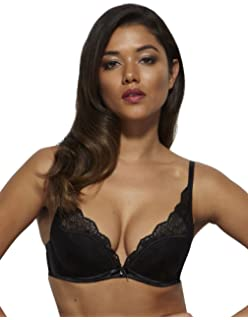 9233c325c8163 Gossard 13901- Women s Venus Black Lace Padded Underwired Deep Plunge  Plunge Bra