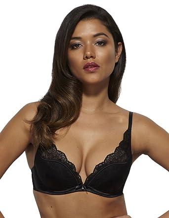 ac86855c37d9e Gossard 13901- Women s Venus Black Lace High Apex Deep Plunge Bra at Amazon  Women s Clothing store