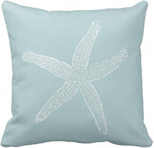 Emvency Throw Pillow Cover Seas The Day Vintage Starfish On Canvas Look Decorative Pillow Case Whimsical Home Decor Rectangle Queen Size 20x26 Inch Cushion Pillowcase
