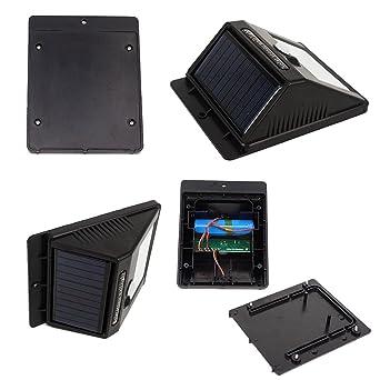 Solar Luces de jardín,Foco Solar,Luces Solares 16 LED,1200mAh Lámparas Solares de Pared Impermeable,Luz de solar,Luces de Exterior con Sensor de Movimiento ...