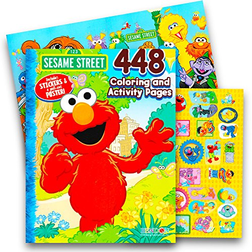 Sticker Jumbo Books (Sesame Street Elmo Coloring Book Jumbo 448 Pages-With Stickers-Featuring Elmo, Cookie Monster, Big Bird and More!)